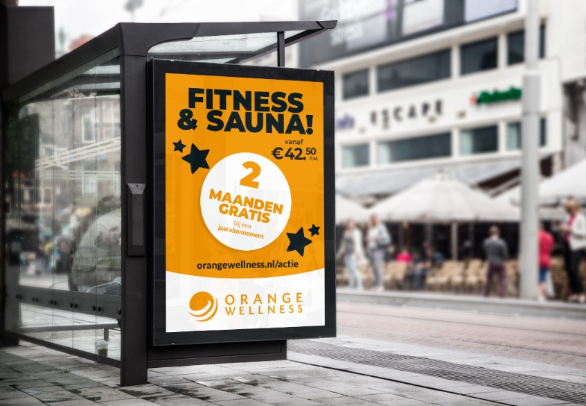 Abri-poster-sportschool-Orange-Wellness