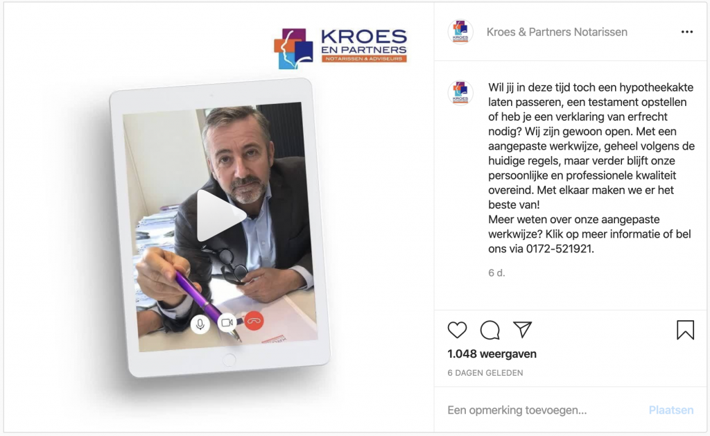 Instagram-advertentie-Kroes-en-Partners-communicatie-Corona